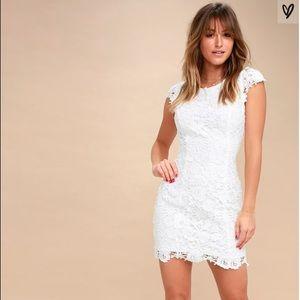 Lulu's Romance Language White Backless Lace Dress